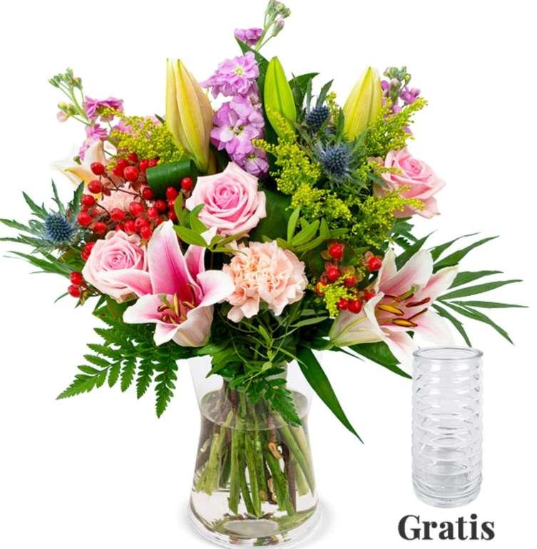 """Exotische Blütenpracht: Blumenstrauß """"Blütenfreude"""" mit gratis Vase für 34,98€ inkl. Versand"""