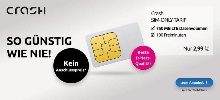 Crash Telekom Tarif 750MB LTE
