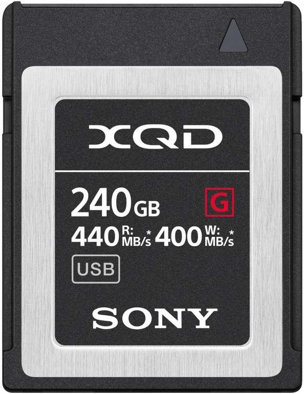 Sony XQD-G240E Speicherkarte mit 240 GB (440 MB/s) für 199,83€ inkl. Versand (statt 309€)