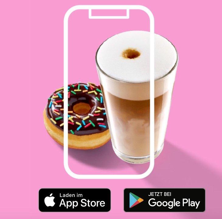 Gratis Donut bei Registrierung in der Dunkin' Donuts App