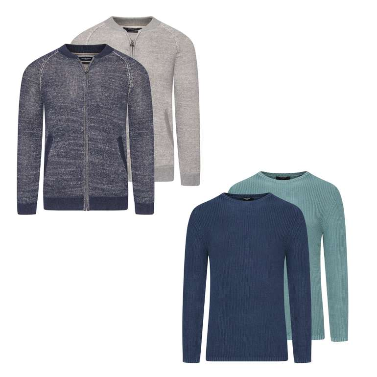 Jack & Jones Herren Zip Jacket Strickpullover für 21,95€ inkl. Versand (statt 29€)
