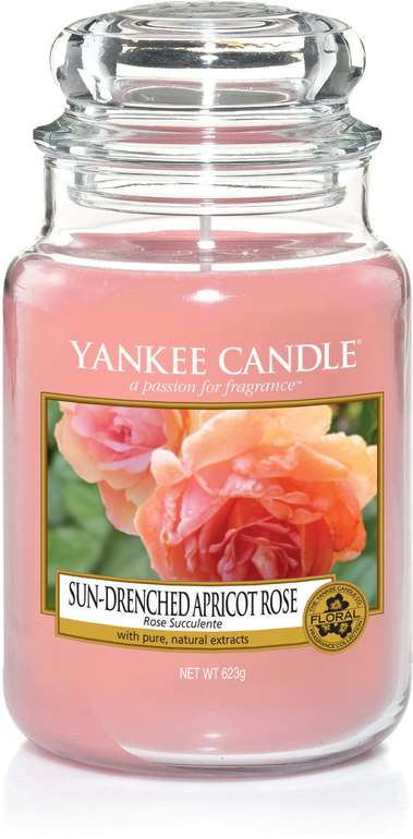 "Yankee Candle Duftkerze ""Apricot Rose"" (623g) für 17,99€ inkl. Prime Versand (statt 21€)"