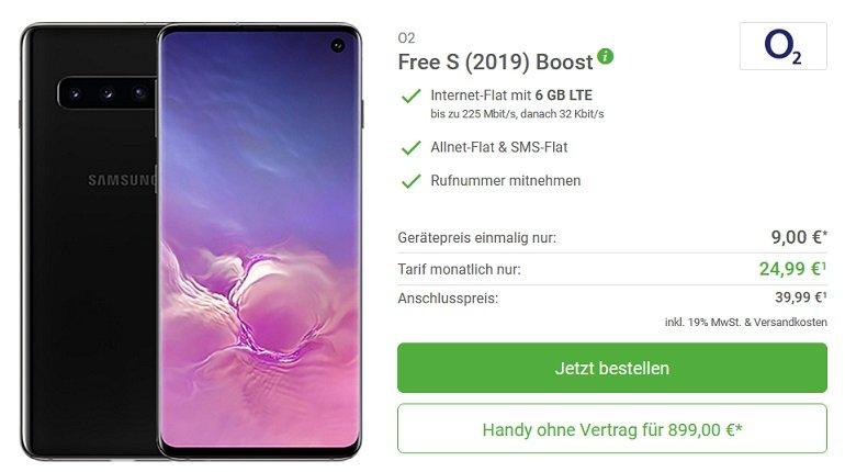 Samsung Galaxy S10 o2 Allnet-Flat 6GB LTE