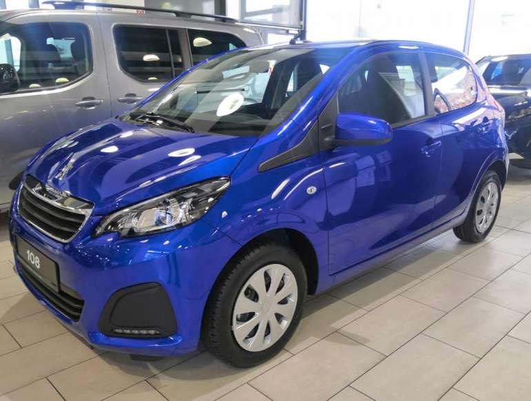 Privat- und Gewerbeleasing: Peugeot 108 mit 72 PS in blau für 49,99€mtl. (LF: 0.34, Bereitstellung: 900€)