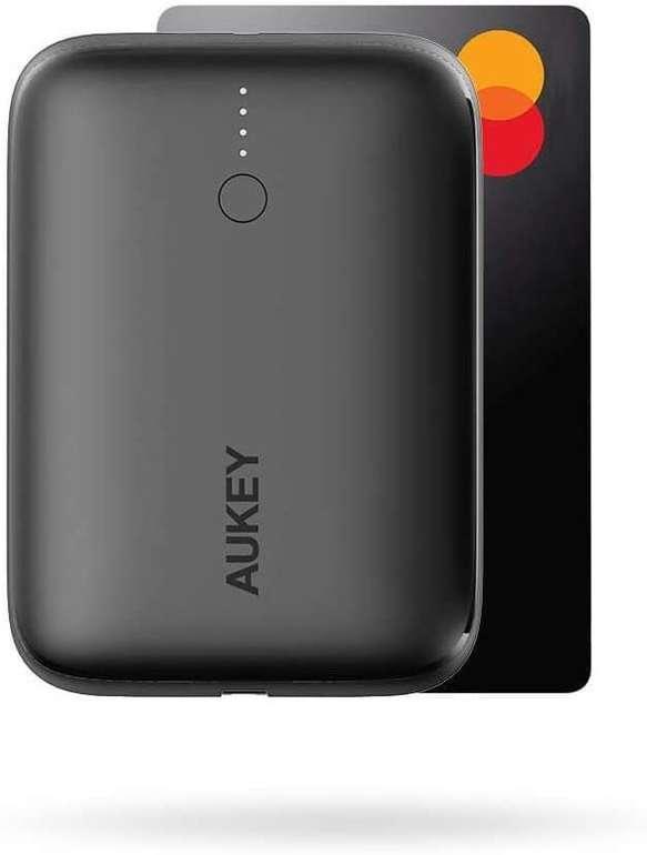 Aukey Mini Powerbank mit 10000mAh (18W, USB C, PD) für 17,24€ inkl. Prime Versand