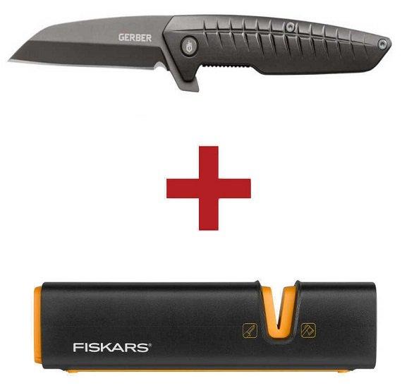 Gerber Razorfish Taschenklappmesser + Fiskars XSharp Axt- und Messerschärfer Set für 29,90€ (statt 50€)