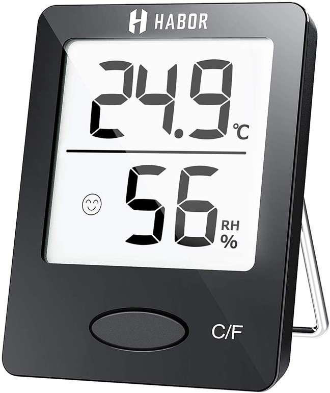 Habor Thermo-Hygrometer - Luftfeuchtigkeitsmessgerät für Innen je 5,84€ inkl. Prime Versand