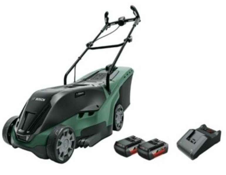 Bosch Rotak 36-560 36V Akku-Rasenmäher + 2x 2.0Ah Akkus für 326,79€ inkl. Versand (statt 370€)