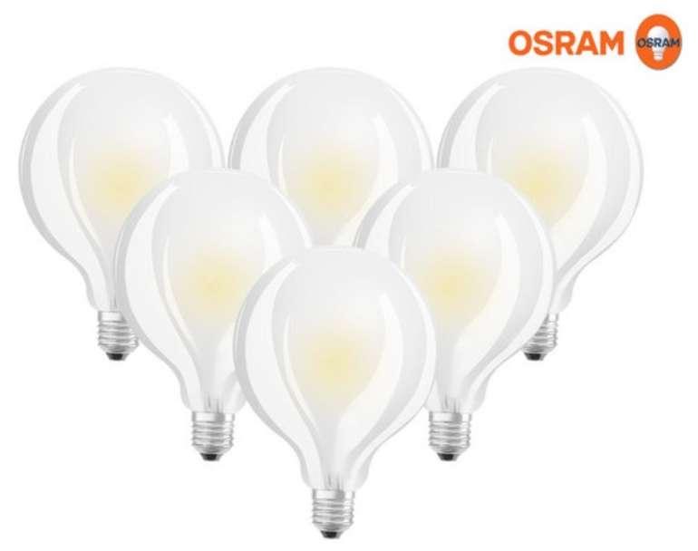 6er Pack Osram Classic Globe LED-Star Leuchtmittel (dimmbar, 8,5 W, E27, 2700 K) für 28,90€ inkl. Versand