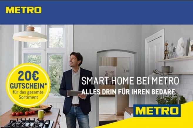 Metro 20 Euro Gutschein ab 100 Euro Bruttoeinkaufswert bis zum 18.01.2020