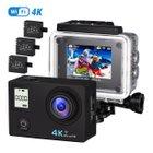 VTIN Action Kamera (4K, wasserdicht) + Selife Stick und Batterien je 35,99€