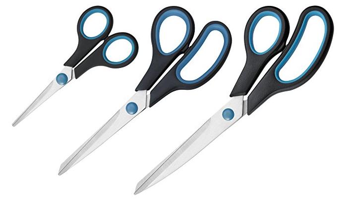 Westcott 3er Scheren-Set Easy Grip schwarz/blau für 3,08€ inkl. Prime Versand