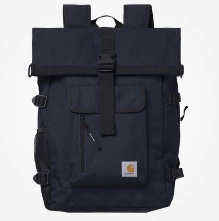 Carhartt Philis Backpack in dark navy mit 21,5 Liter Volumen und Roll-Top-Konstruktion für 65,15€ (statt 80€)