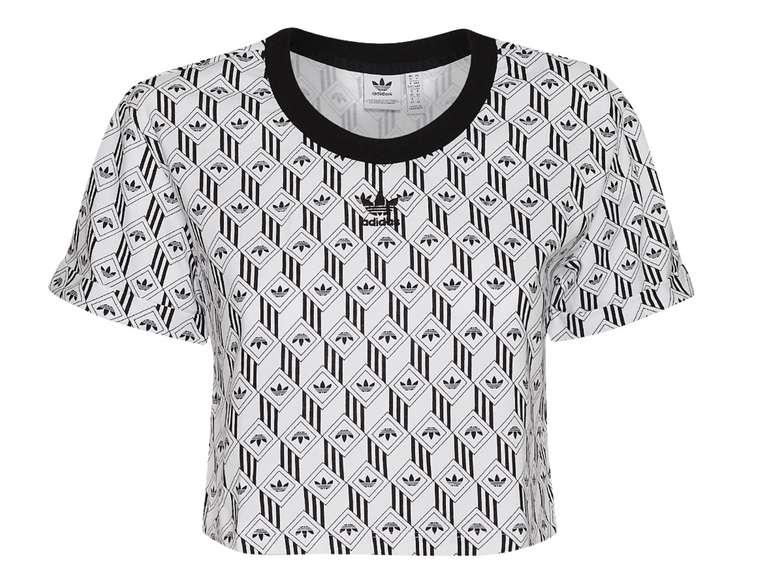Adidas Originals Damen Crop Top schwarz/weiß für 19,94€ inkl. Versand (statt 23€)