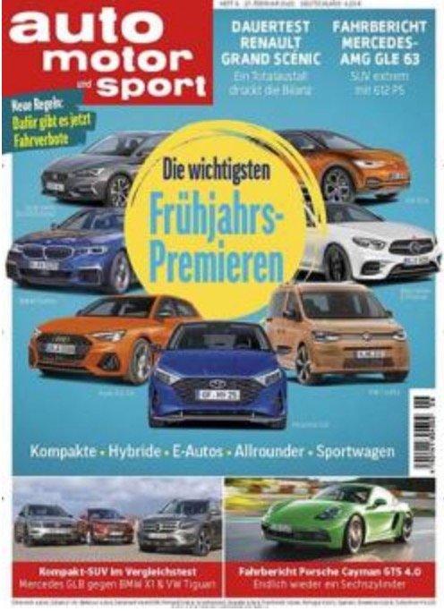 DPV Zeitschriften Abo Kampagne April 2020, z.B. Jahresabo Auto, Motor & Sport für 99,90€ + 60€ Prämie