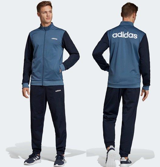 adidas Herren Linear Tricot Trainingsanzug für 36,38€ (statt 60€)
