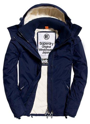 Superdry Sherpa Windcheater-Jacke mit Kapuze für 69,95€ (statt 110€)
