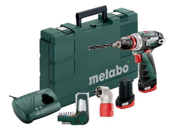 Metabo 10,8V Akku Bohrer PowerMaxx BS Quick Basic Set 2 x 2.0 Ah Akku 109,99€