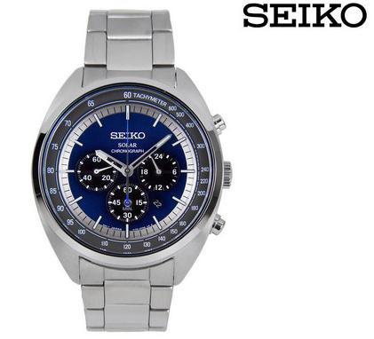 Seiko SSC619P1 Herren Armbanduhr aus Edelstahl mit Stoppuhr für 135,90€