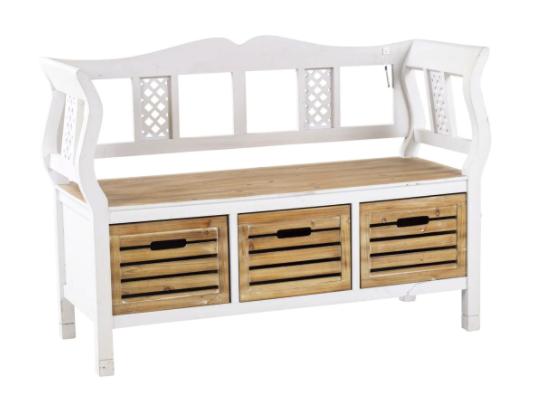 Casavanti Sitzbank aus Holznachbildung in braun/weiß für 301,49€ inkl. Versand (statt 388€)