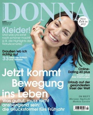 """6 Ausgaben der Zeitschrift """"DONNA"""" für 23,40€ + 20€ Verrechnungsscheck"""