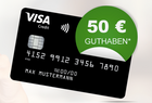 Schwarze VISA-Kreditkarte ohne Grund- & Jahresgebühr + 50€ Guthaben (Apple Pay)