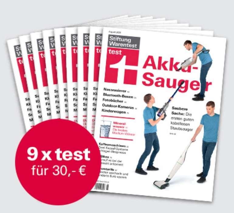 Abo: 9 Ausgaben Stiftung Warentest + Buch: Besser essen nebenbei & Notizbuch für 30€ (statt 70€)