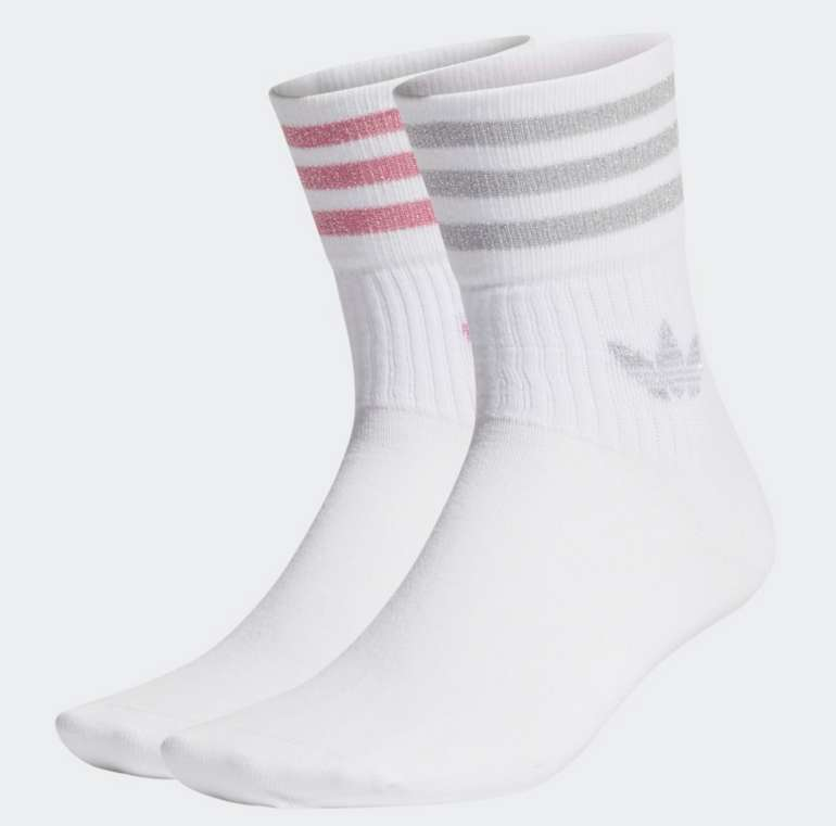 2er Pack Adidas Damen Mid-Cut Glitter Crew Socken für 8,40€ inkl. Versand (statt 12€) - Creators Club