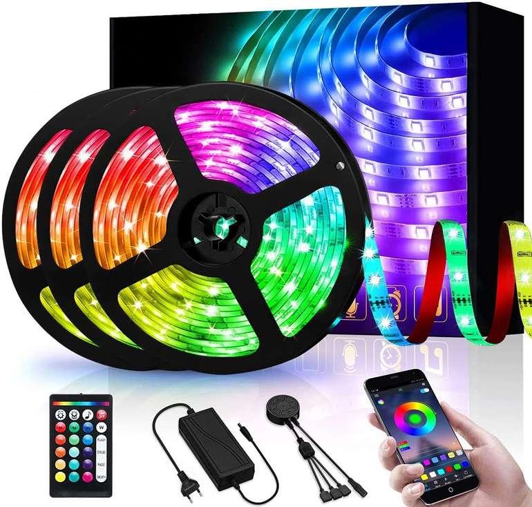 Efelandhome 15m RGB LED Streifen (App, MusicSync) für 18,19€ inkl. Prime Versand (statt 28€)