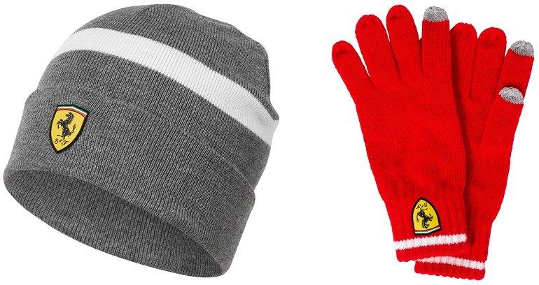 Scuderia Ferrari Knitted Beanie Wintermütze + Winterhandschuhe 3