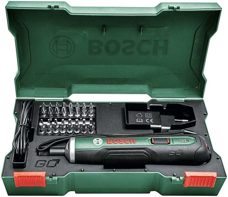 Bosch PushDrive Akkuschrauber 3,6 V, 1,5 Ah inkl. 32 teiliges Bohreinsatz-Set für 37,94€ (statt 49€)