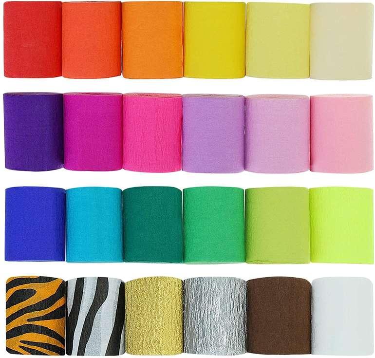 Caveen Kreppapier in verschiedenen Farben (24 Stück, 10m x 5cm) für 7,49€ inkl. Prime Versand (statt 12€)