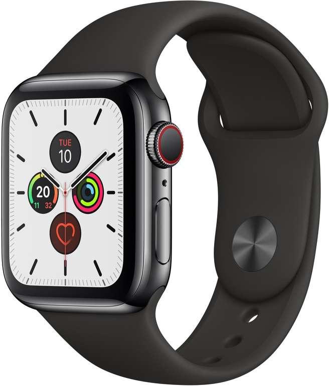 Apple Watch Series 5 (GPS + Cellular) 40mm Edelstahlgehäuse  mit Sportarmband für 613,51€