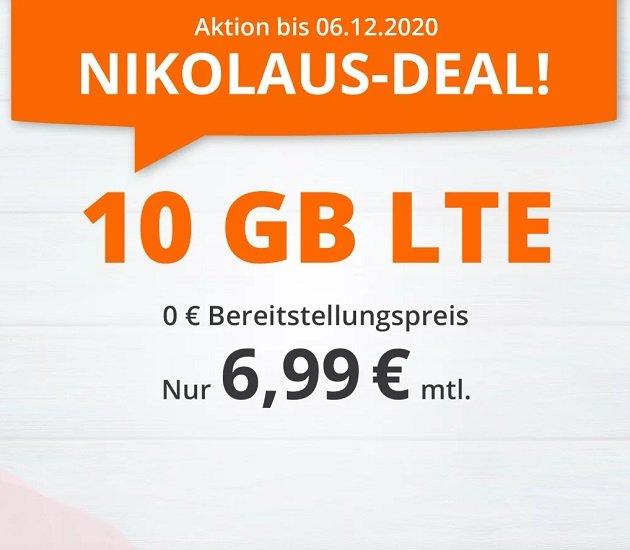 Sim.de o2 Tarif mit 60 Freiminuten und 10GB LTE Datenvolumen für 6,99€ mtl. (drei monatlich kündbar)