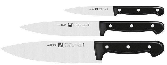 Zwilling - 3 tlg. Twin Chef Messerset für 35,99€ inkl. VSK (statt 55€)