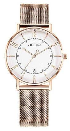 BUREI JEDIR Damen Uhren mit 50% Rabatt, z.B. Rosegold für 14,99€ inkl. VSK