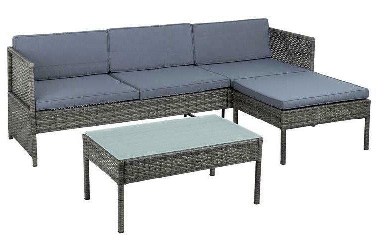 Estexo Polyrattan Gartenmöbel-Set für 197,95€ inkl. Versand (statt 220€)