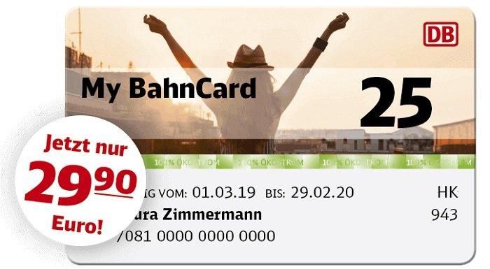 My 25 BahnCard: Für alle unter 27 Jahren ab 29,90 Euro im 1. Jahr