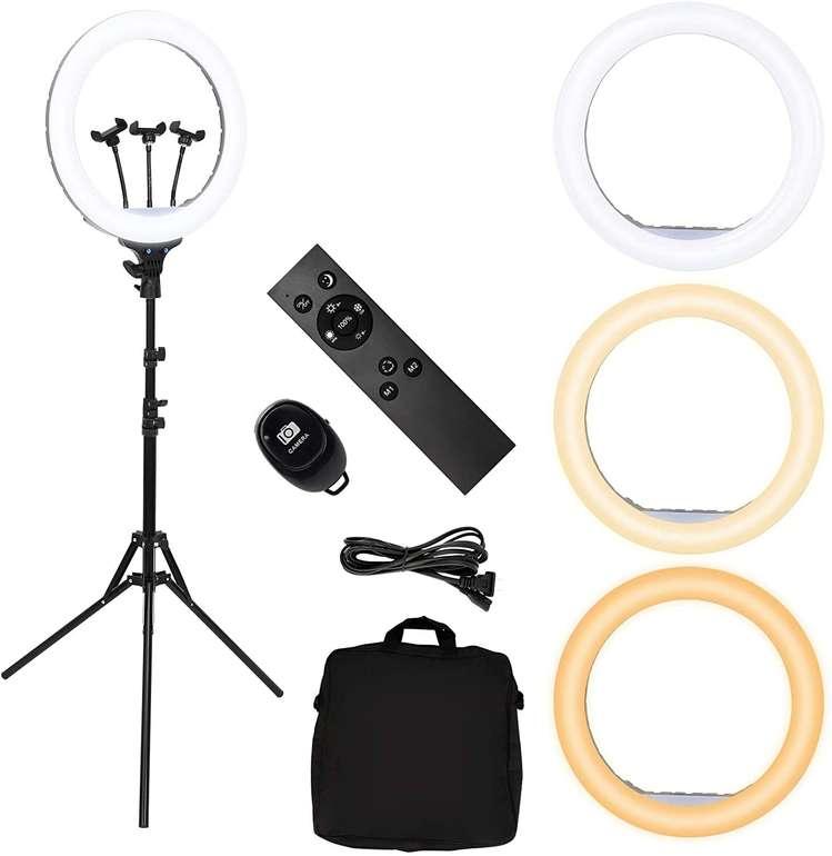 "Vingo 18"" LED Selfie Ringlicht (3 Farben, Stativ) für 37,58€ inkl. Versand (statt 54€)"