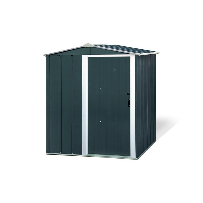 """Metallgerätehaus """"Eco 5x4"""" in anthrazit/weiß (162x122x182cm) für 209,94€ inkl. Versand (statt 264€) - Newsletter!"""