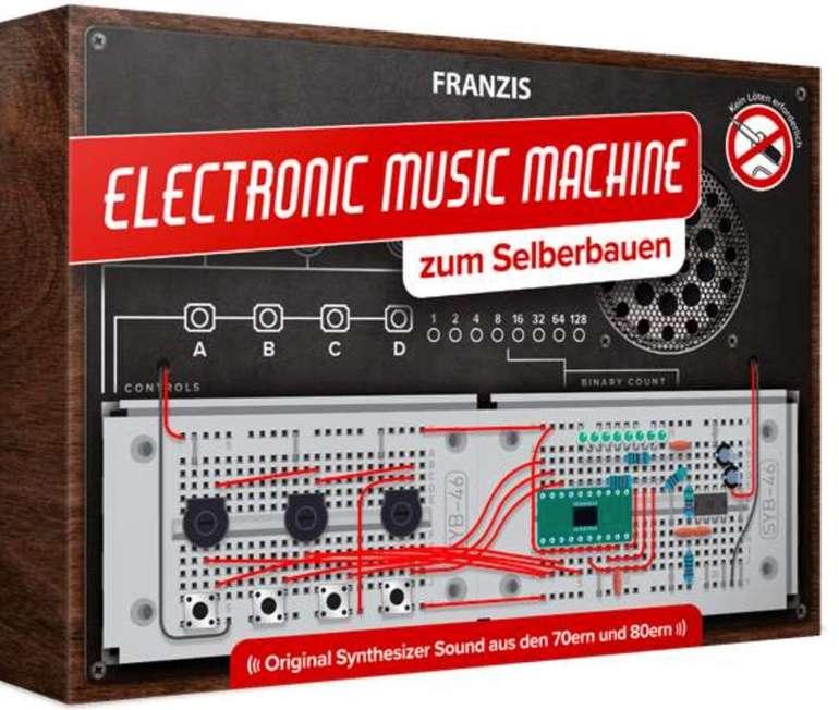 Franzis Electronic Music Machine Bausatz (Kein Löten erforderlich, 70er und 80er Jahre Synthesizer Sound) für 17,95€