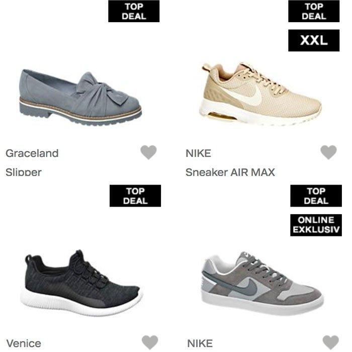 Top Deals bei Deichmann z.B. Venice Sneaker für 23€ inkl. Versand (statt 35€)