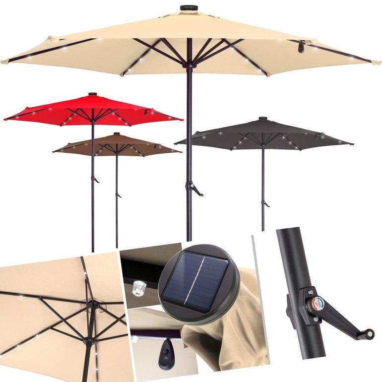 Kesser Sonnenschirm (270cm) mit Solar-LED-Lichtern für 34,02€ inkl. Versand