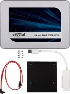 Crucial MX500 SSD mit 500GB Speicher + Installationskit für 59€ inkl. Versand
