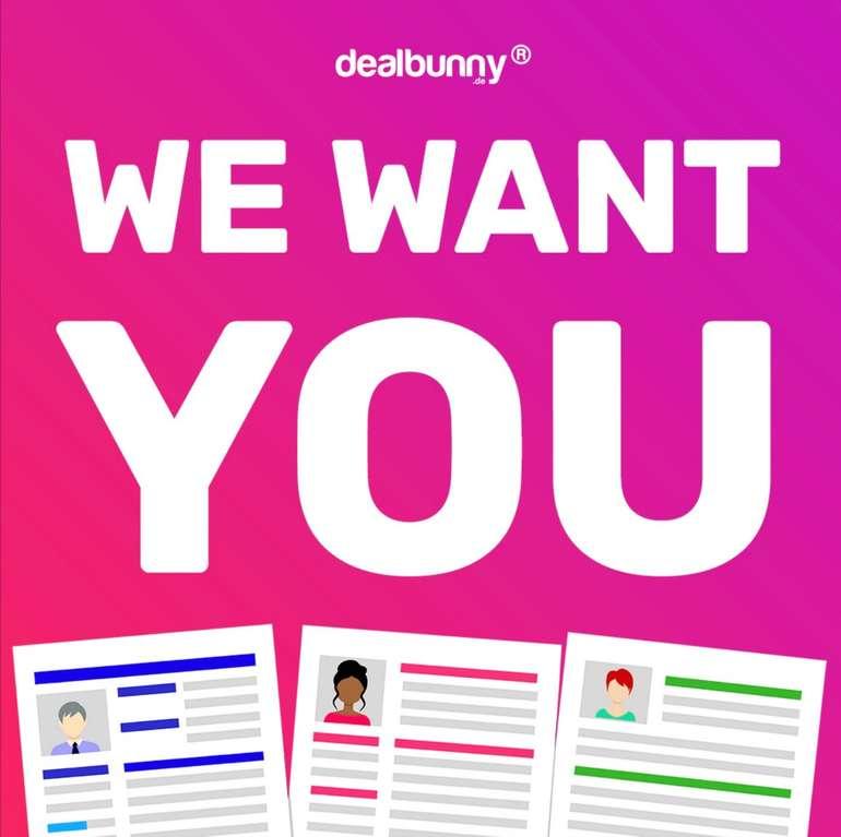 dealbunny.de sucht dich! - Online-Redakteure (m/w/d) gesucht (Teilzeit, Vollzeit, Wochenende, Nachts)!