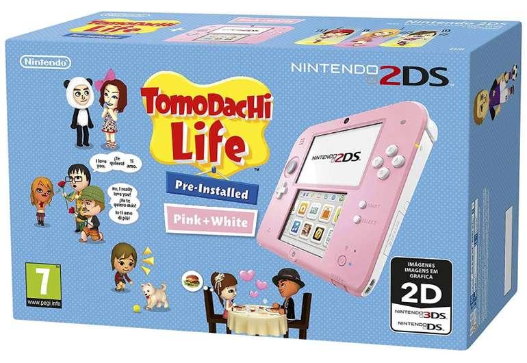 Nintendo 2DS in rosa-weiß + Tomodachi Life für 51,41€ inkl. Versand (statt 75€)