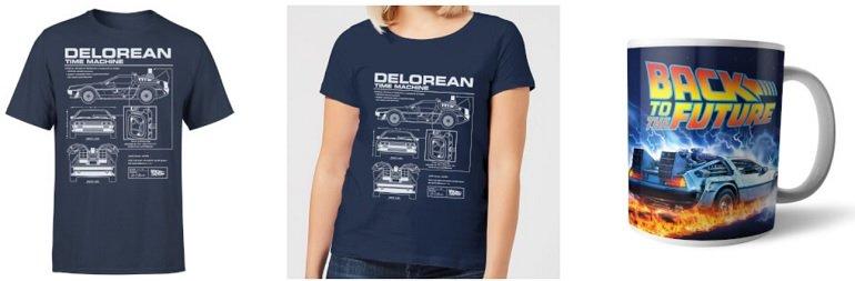 T-Shirt Zurück In Die Zukunft - Delorean Tasse