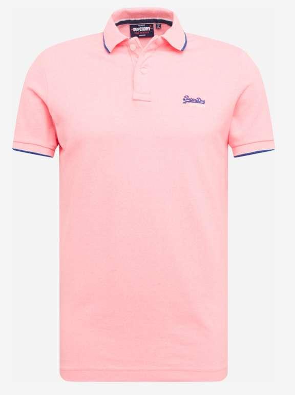 Superdry Poolside Polohemd in Rosa für 24,43€ inkl. Versand (statt 35€)