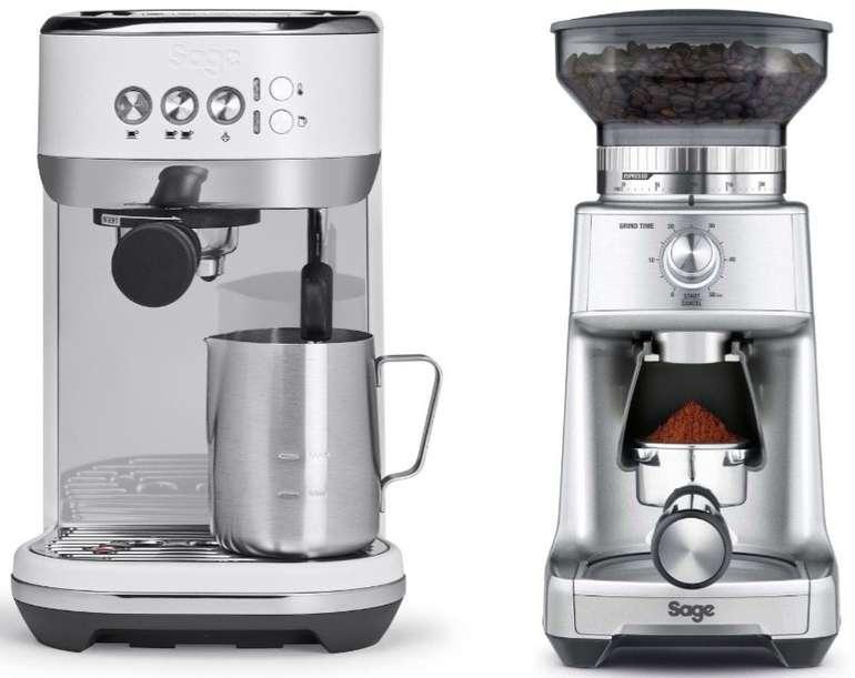 """Sage SES500SST Bambino Plus Siebträgermaschine + """"SCG600"""" Kaffeemühle für 299€"""