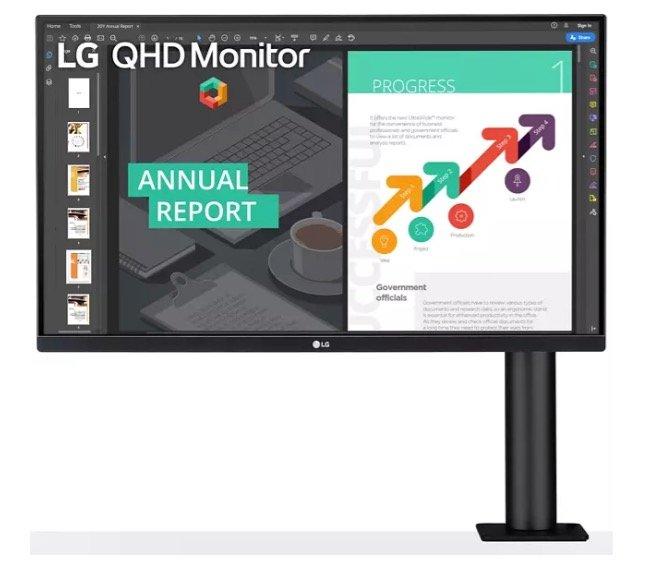 """LG """"27QN880"""" 27"""" Monitor mit integrierter Tischhalterung für 403,91€ (statt 449€)"""